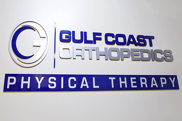 Gulf Coast Orthopedics Physical Therapy Sign
